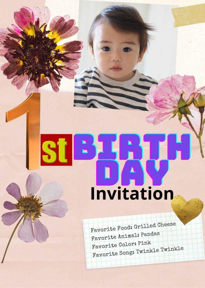 1st Birthday Invitation Message