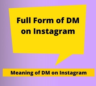 DM Meaning In Instagram | DM ME